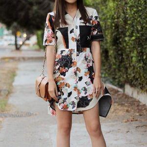 3.1 Phillip Lim 4 Target Floral Shirt Dress D0873